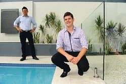 Living Environs operations manager Tony Palmer and managing director Sam Keats at the home of one of their clients.