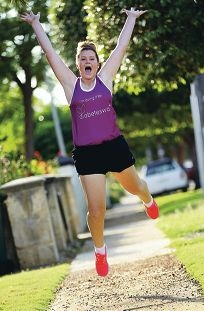 Sophie Louwerens is taking part in the upcoming HBF Run for a Reason to raise money for diabetes research. Picture: Dominique Menegaldod399800