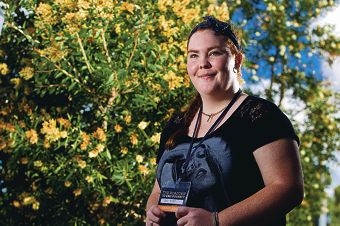 Sandi McGhie recently got back from the road trip to conquer poverty. Picture: Matthew Poon www.communitypix.com.au d399995
