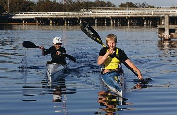 Tom (10) and Jack (14) Baker joined the Bayswater Paddlesport Club four years ago. Jack is competing in the Junior Avon Descent this year. Picture: Matt Jelonek www.communitypix.com.au d399997