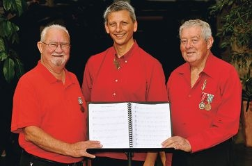 Baritones Ray Marshall and Paul Keet and tenor Robert McClelland want more men to join them in the Free Spirit Choir.