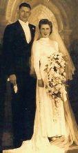 Alex and Joy Kennedy on their wedding day in 1943.