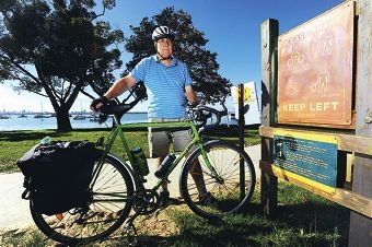 Cycling enthusiast Richard Stallard has slammed the decision not to make a footpath along Matilda Bay available for dual use. Picture: Marcus Whisson www.communitypix.com.au d400269
