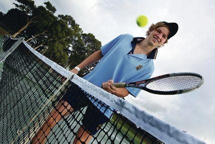 Hale School tennis captain Luke Keddie is confident off a strong showing in the Pizzey Cup tournament. Picture: Dominique Menegaldo www.communitypix.com.au d399746
