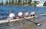 The Mandurah Rowing Club team.