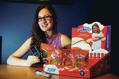 Ivana Giovannini has Type 1 Diabetes and has been an active volunteer for Jelly Baby month for several years
