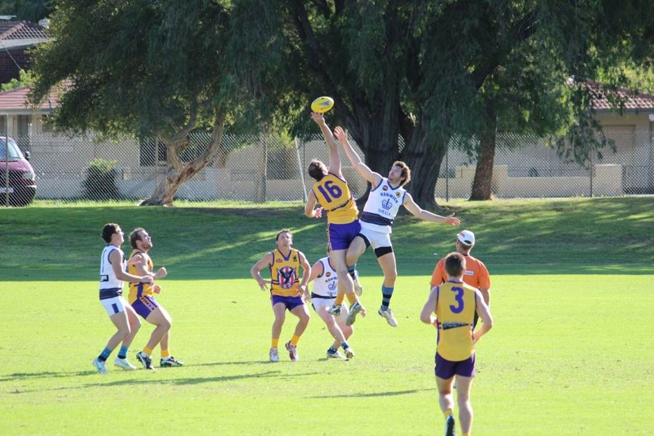 Jason Booth goes up in the ruck against Kenwick.