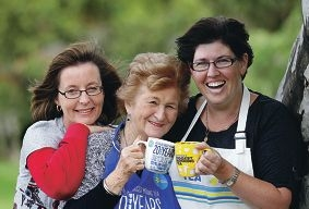 Rebecca Goncalves (right) with Claire Horton, of Samson, and Joan Allen, of Canning Vale. Picture: Martin Kennealey www.communitypix.com.au d400650