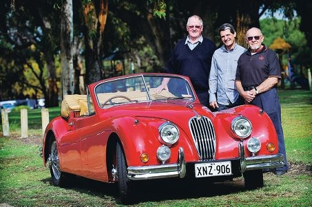 Motoring enthusiasts Robert Brodie-Hall, Luke Zambotti and Allen Shephard are looking forward to the event. d332174