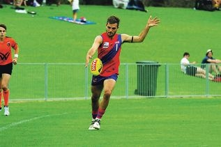 Aaron Black in action for West Perth this season. Pictures: Belinda Taylor