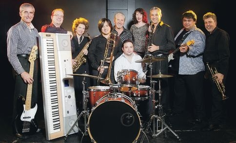 Twenty Feet Beat: Trevor Creewel. Andrew Angel, Penny Riley and Peter Chan with Hamilton Hill resident and lead vocalist Wayne Stanley, Guillaume Caillot, Sandra Carr, Malcolm Sandman, Robbie Campbell and Greg Hocking.