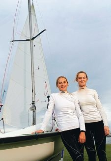 Carrie Smith and Ella Clark have done well at the Japan national sailing championships. Picture: Martin Kenneally d400638