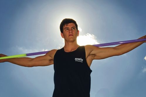 Cruz Hogan is representing Australia in javelin at an international meet in June. Picture: Emma Reeves d400279