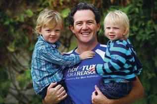 Jake Prout with sons Morgan and Charlie.
