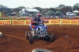 Chris Bosnakis in action at the 2013 Motocross Nationals.