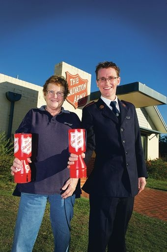 Leah Willett and Scott Ellery are supporting the Red Shield Appeal.