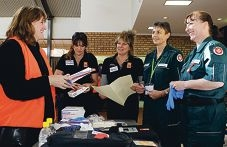 Senior district emergency services officer Joanne Bennett, City of Cockburn's Larissa Boyanich and Shirley Elliott and St John Ambulance's Vicki Maughan and Rochelle Pyle.|Picture: Martin Kennealey d401007