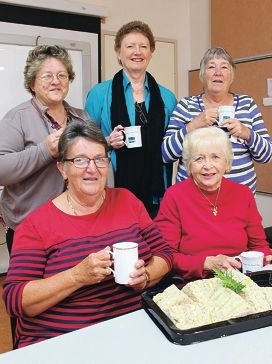 Grandcare members with co-ordinator Susan Baile (back row, middle).