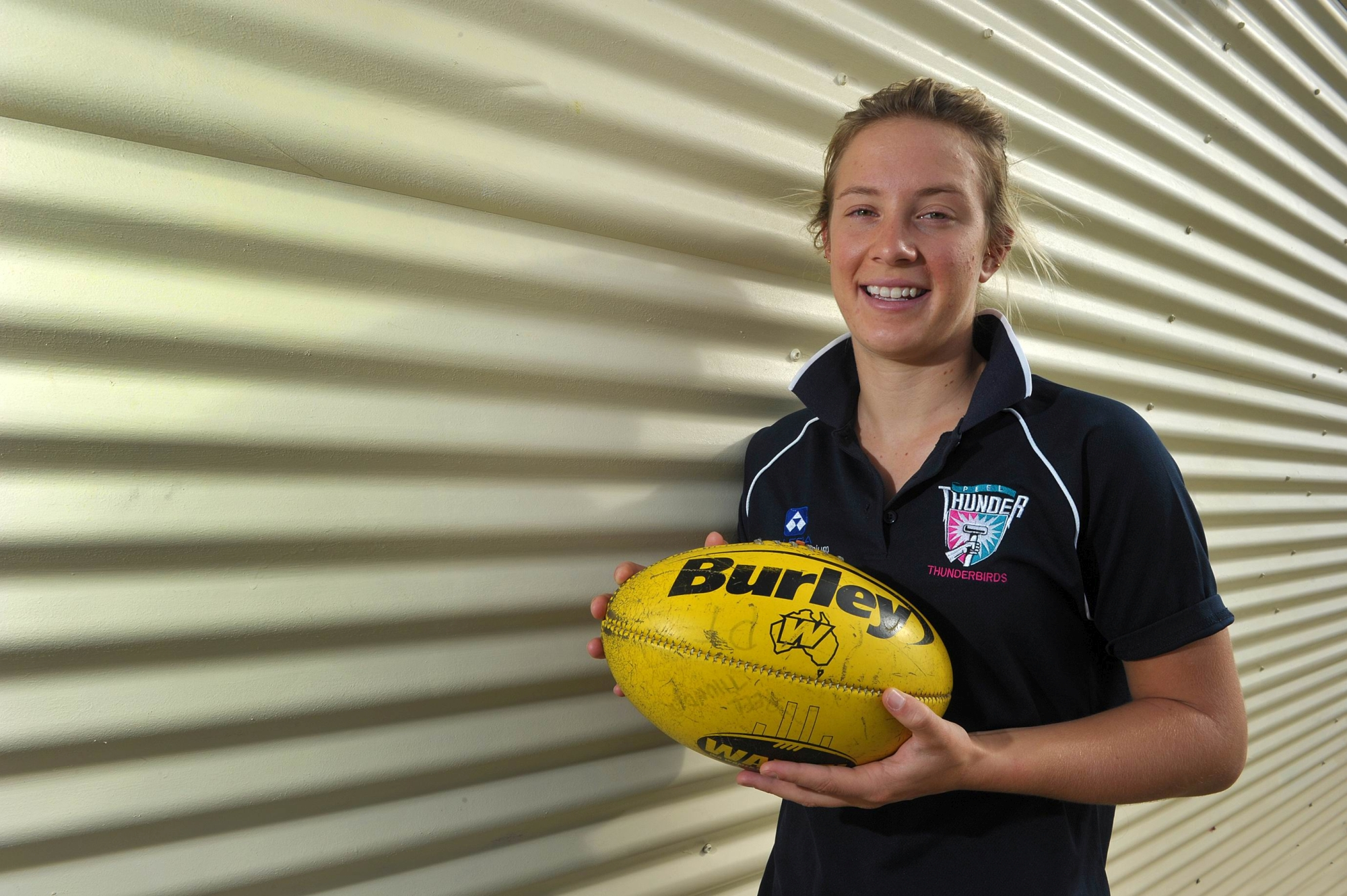 Emma Swanson has been selected to play for the Melbourne Football Club. Picture: Jon Hewson d401291