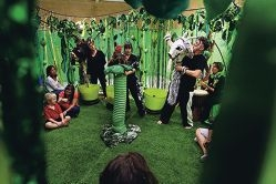 Sensorium Theatre members perform The Jub Jub Tree.