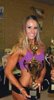 Rockingham fitness model Shelley Calvert.