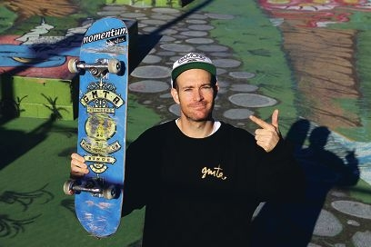 On board: Skateboarding Australia's WA manager Ben Bowring has won an award for his voluntary work with local children. Picture: Martin Kennealey www.communitypix.com.au d401256