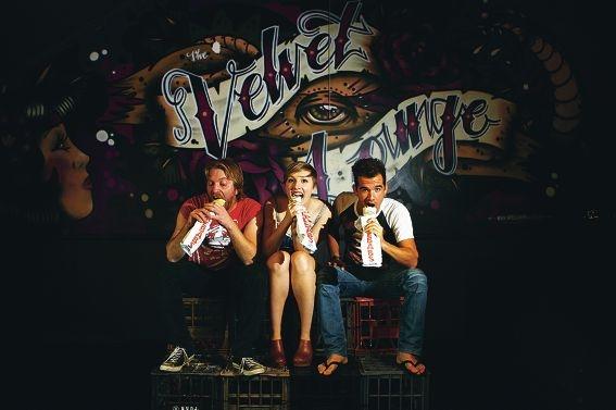 L-R Josh Crane, Sophie Joske & Steven Hounsome