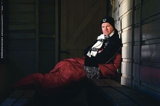 Swan Districts Football Club CEO Tom Bottrell is taking part in the Vinnies CEO Sleepout to raise awareness of homelessness. Picture: Dominique Menegaldo www.communitypix.com.au d401520