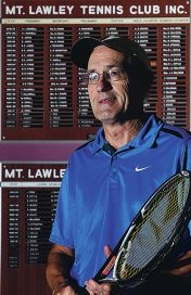 Tennis West award winner and Mt Lawley Tennis Club stalwart Wayne Firn. d401856