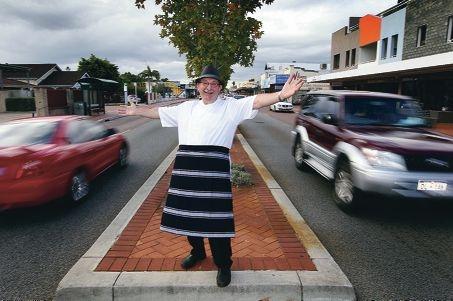 Vince Garreffa on Beaufort Street. Picture: Dominique Menegaldo www.communitypix.com.au d401940