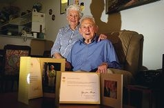 Jean and Jack O'Sullivan are celebrating 70 years of marriage. d401379