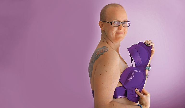 Kirby Bardsley, this year's Purple Bra Day ambassador, has a family history of cancer. Picture: Elle Borgward d401608