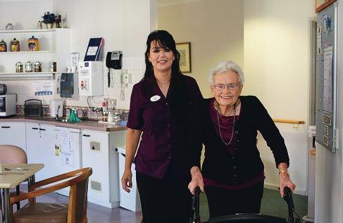Enrolled nurse and document co-ordinator Jayne Krolik with Beth Thornton