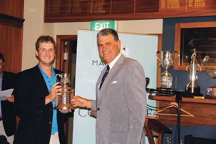 Cottesloe Open winner Thomas Bond with Mack Hall.