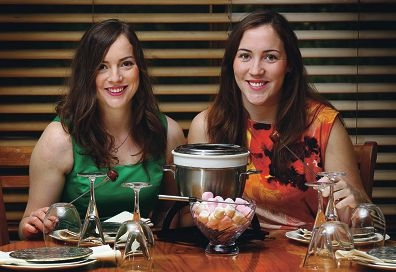 Fondue fundraiser: 21-year-old twins Emily and Shannon Kendall are holding a dinner fundraiser for Alzheimer's Australia WA.