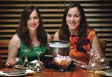 Twins Emily and Shannon Kendall will hold a fondue fundraiser for Alzheimers Australia in August. www.communitypix.com.au d401843