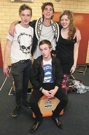 Alexander Popoff-Asotoff, Chris Mackenzie, Greta Andrews-Taylor and Rowan Florence (front).