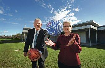 Mayor Logan Howlett and Ruth Spielman. Picture: Elle Borgward d401893