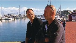Mike Burrows and Dave Anderton were fortunate to be rescued. Picture: 9 News