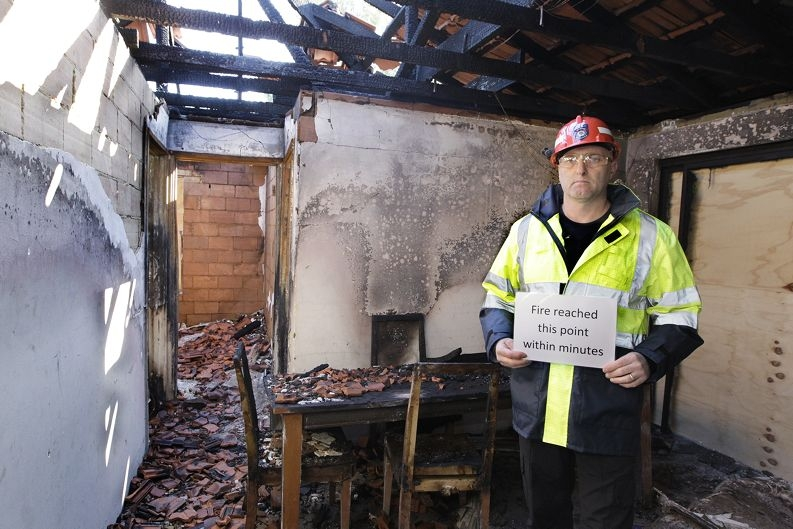 Department of Fire and Emergency Services fire investigation officer Gary Baxter.