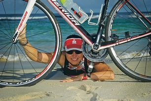 Robyn Power is training hard in preparation for the world championships triathlon in London in September.Picture: Emma Reeves d402306