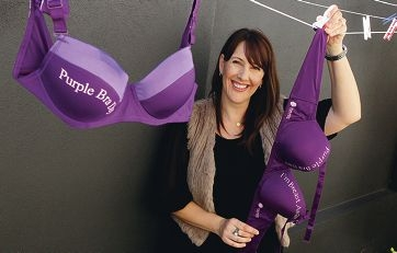 Melissa Del Popolo, whose mother, grandmother, aunt all suffered from breast cancer, and who is fighting the disease herself, says it is never too early to go to the doctors if you suspect something is wrong. Picture: Martin Kennealey www.communitypix.com.au d401575