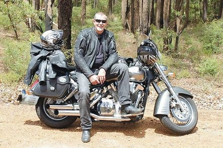 Rene Baur and his wife Bronwyn will ride to Alice Springs in August.