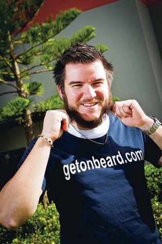 Travis Page is growing a beard for the Motor Neurone Disease fundraiser Picture: Matthew Poon www.communitypix.com.au d402117