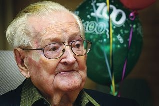 Henry Fred Harffey turns 100.Picture: Dominique Menegaldo www.communitypix.com.au d402260