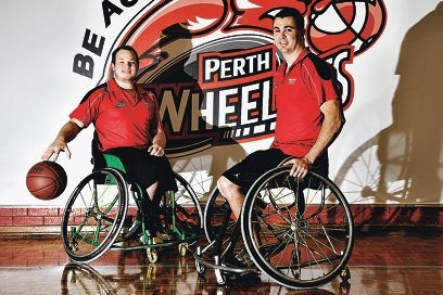 Wheelcats co-captains Shaun Norris and Justin Eveson. Picture: Marcus Whisson
