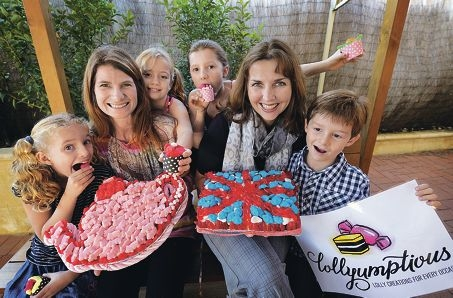 LtoR: Erin Clark (7), Clare Ivancich (Owner/Creator Lollyumptios), Kyla Clark (8), Grace Ivancich (8), Alison Kelly (Owner/Creator Lollyumptios), William Ivancich (5)