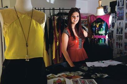 Fashion designer Jonte Pike. Picture: Emma Reeves www.communitypix.com.au d402655