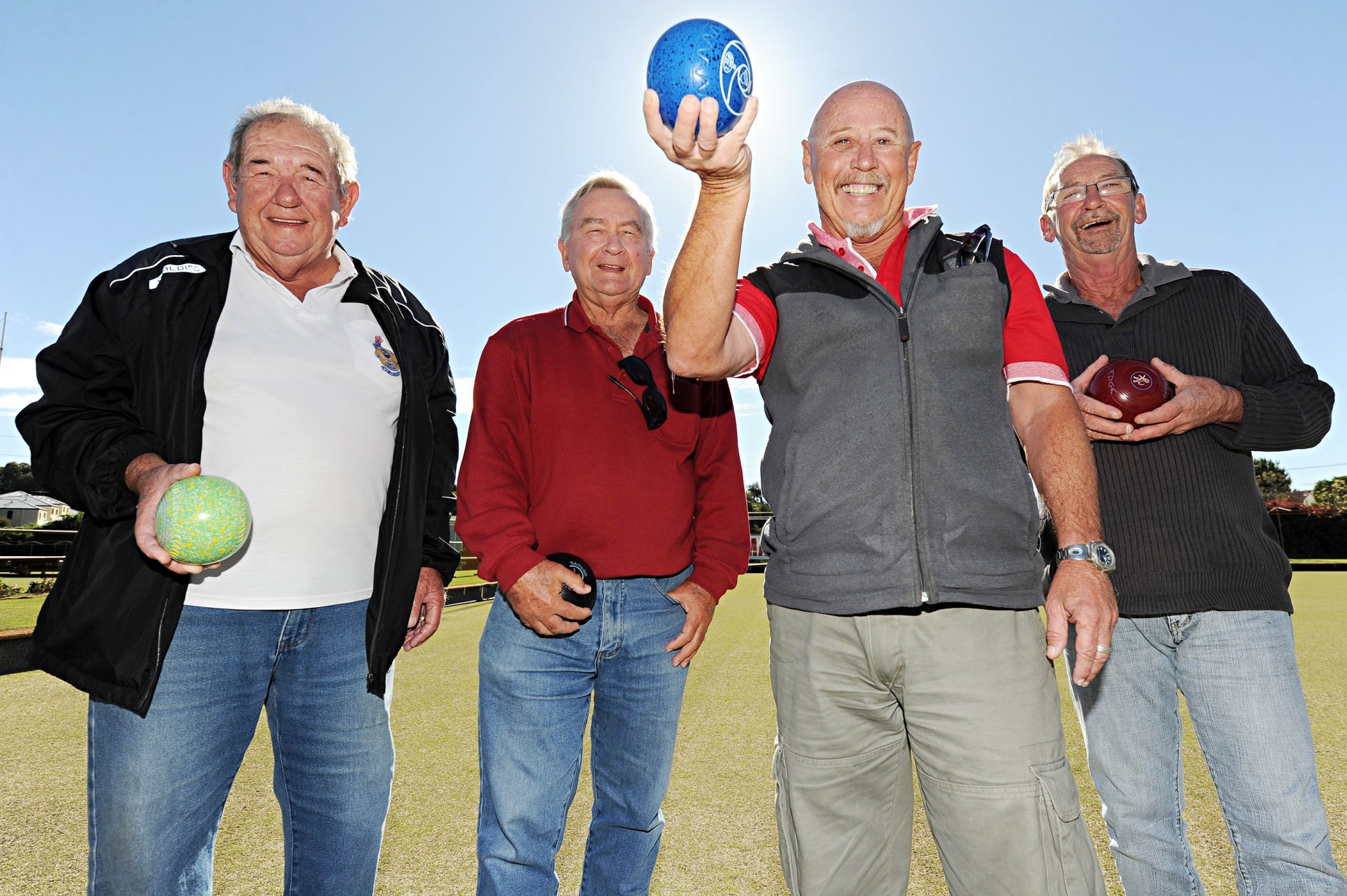 Nollamara Bowling Club members, from left, Maurice Lehmann, John Limas, John Cowl and Kevin Stewart.