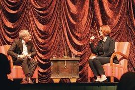 Prime Minister Julia Gillard in conversation with Ben Elton.